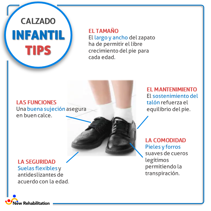 calzado infantil new rehabilitation